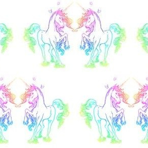 Light Rainbow Unicorns