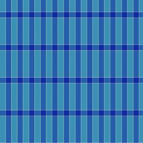 plaid cyan cobalt blue