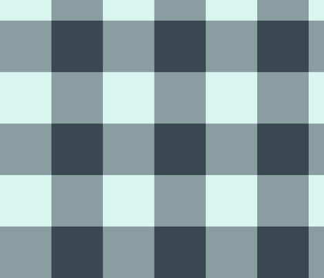 plaid-nightwatch-mint fabric by wren_leyland on Spoonflower - custom fabric