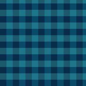 plaid-navy teal blue