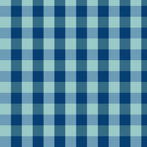plaid-navy aqua blue