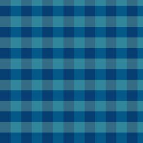 plaid-navy blue aqua