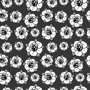 roses on dark grey