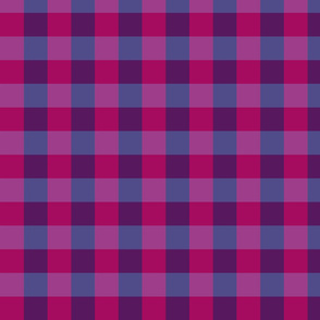plaid- raspberry blueberry