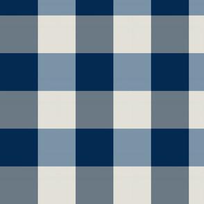 plaid-navy blue white