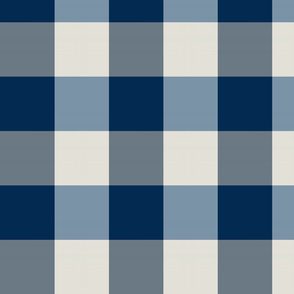 plaid-navy provincial blue