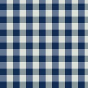 plaid- navy teal blue