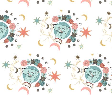 Be my Valentine fabric by maïlysjans on Spoonflower - custom fabric