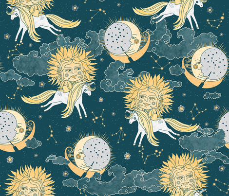 My childhood astrology fabric by ringele on Spoonflower - custom fabric