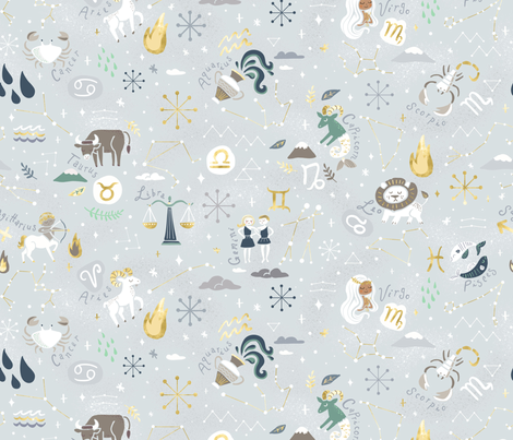 Astro Geek fabric by allisonbeilkedesigns on Spoonflower - custom fabric
