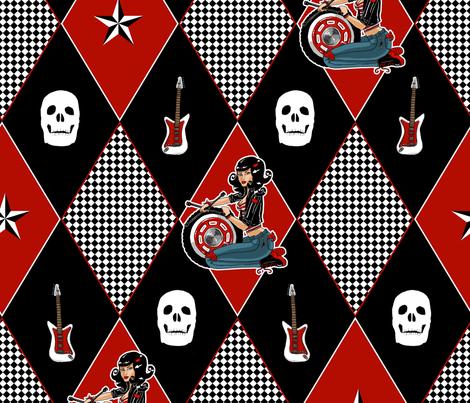 Rockabilly Babe fabric by amber_morgan on Spoonflower - custom fabric