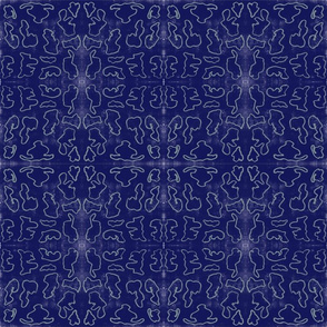 Tribal  Geometrics on Blue