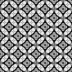 Batik/B&W with circular elements