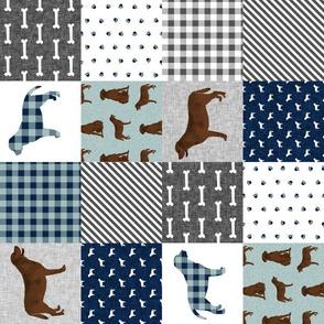 SMALL - labrador retriever chocolate lab pet quilt b cheater quilt dog fabric