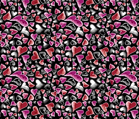 Ditzy Hearts Multicolor fabric by engravogirl on Spoonflower - custom fabric