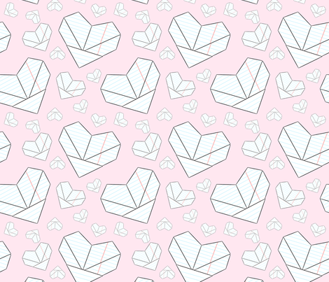 Folded Love Notes fabric by cozyreverie on Spoonflower - custom fabric