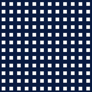 Square Grid Plaid  // Navy and White