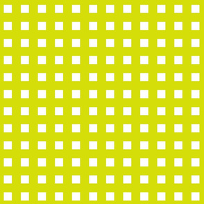 Square Grid Plaid // Chartreuse & White
