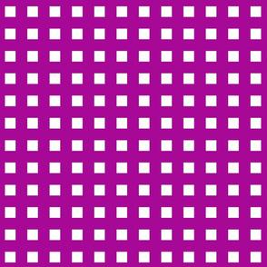 Square Grid Plaid // Fuchsia & White