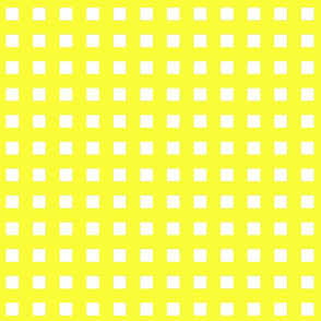 Square Grid Plaid // Yellow & White