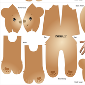 CINNAMON FLEECE BEAR, style# 1004