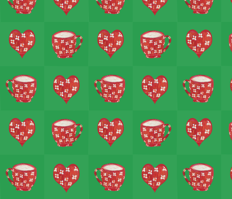 I love you a latte valentine patchwork fabric by lisakling on Spoonflower - custom fabric