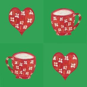 I love you a latte valentine patchwork