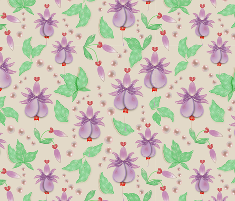 Love is in the flowers fabric by aurora_quilling on Spoonflower - custom fabric