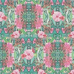 Bohemian Oleander Art Nouveau Pattern