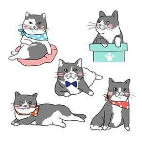 Cute Cats In Ties Pattern