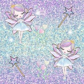 Fairy Princess Ombre Purple/Aqua Glitter