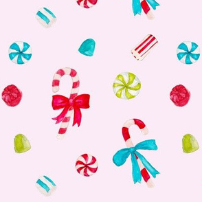 Vintage Christmas Candy_pink
