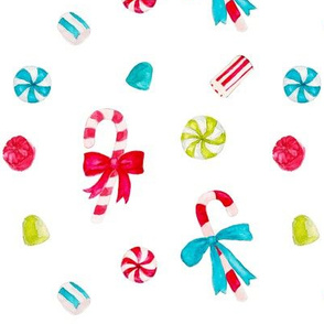 Vintage Christmas Candy_white