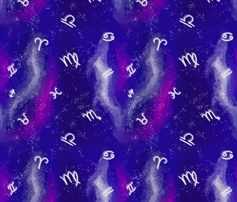 Astrogalaxy fabric by kasandra_rysuje on Spoonflower - custom fabric