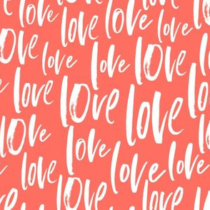 Valentine's Day 2019 Love fabric gift wrapping paper | Living Coral