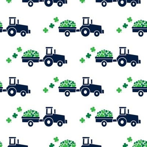 Tractors with Shamrocks - St Patrick's day  Clovers