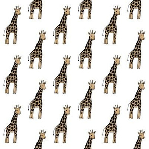 safari nursery giraffe fabric - neutral fabric, neutral nursery fabric, giraffe fabric,  - white