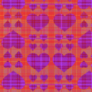 scotch hearts pink red