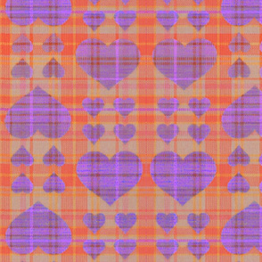 scotch hearts  orange purple