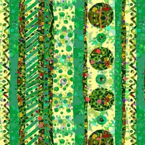 Emerald Isle: Confettied Stripes