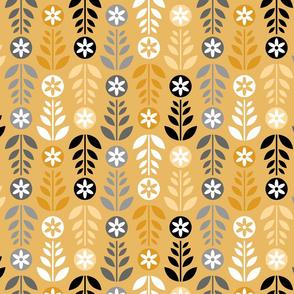 Scandinavian Flowers Gold