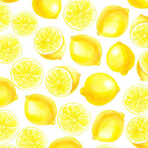 Watercolor lemons design