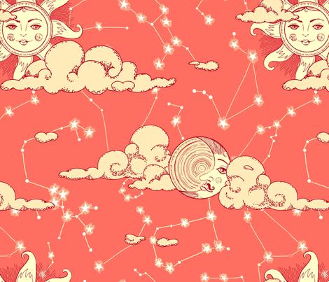 Astrology of love fabric by tanistaja on Spoonflower - custom fabric