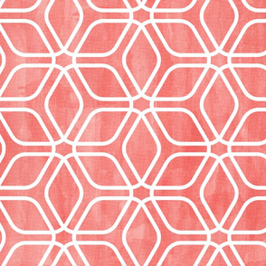 Honeycomb Lattice Watercolor Coral