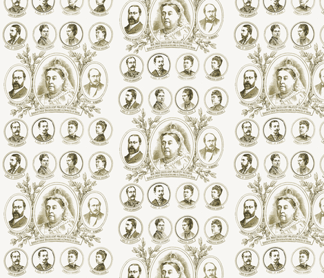 Queen Victoria's Family fabric by materialculture on Spoonflower - custom fabric