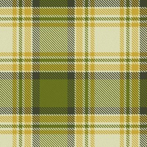 Olive Green and Mustard Yellow Plaid