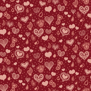 Paisley Heart Patterns