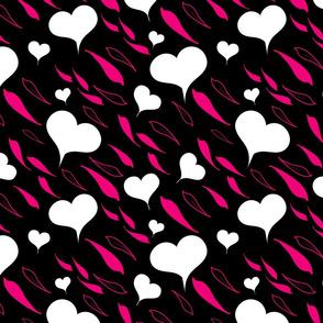 corazones abstractas blancas
