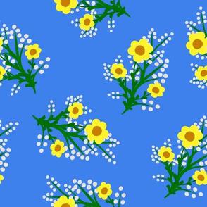 ramos con flores amarillos