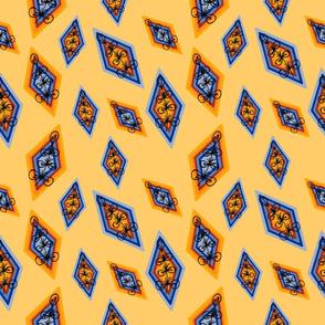 rombo sobre amarillo